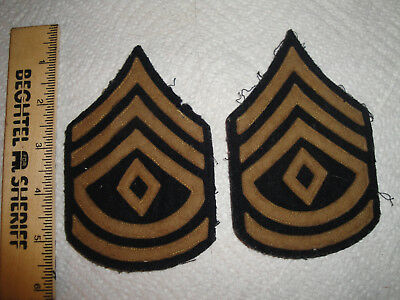 Wwi Us Army First Sergeant Stripes Pair, Wool Set, Great Shape.