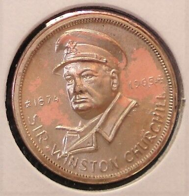 1965 Churchill Token in Metal than Copper, Which is Unusual for this Token