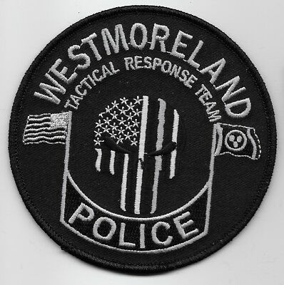 Punisher patch Westmoreland Police State Tennessee TN ptch Subdued SWAT
