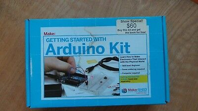 NEW Getting Started w Arduino Kit w book UNO microcontroller MakerShed