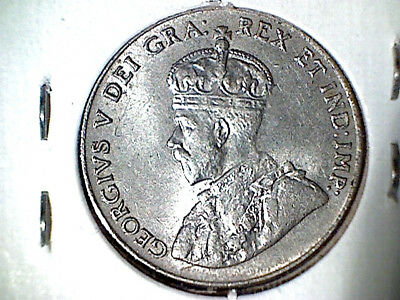 1927 Canada Canadian  King George five cent piece