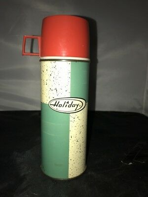 Vintage Lunch Box Thermos Only Holiday Bottle 2271