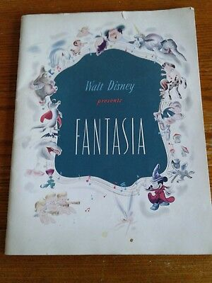 "1940 ""walt Disney Presents Fantasia"" Movie Souvenir Playbill!"