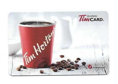 2015 The White Coffee Bean Tim Hortons Gift Card $0 Value FD45716
