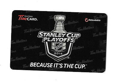 NHL 2014 Stanley Cup Playoffs Collectible Tim Hortons Gift Card $0 Value FD40771