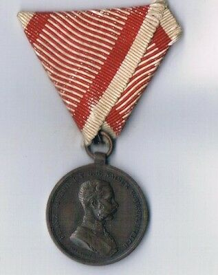 Imperial Austro-Hungarian Small Bronze Bravery Medal Franz Jozef Type