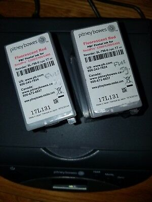 X2 Pitney Bowes SL 789-0 FLUORESCENT RED Ink Sendpro C200/C300/C400 100% FULL