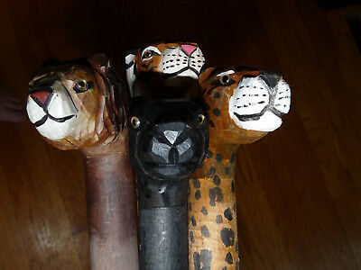 Lot Of Four (4 Different) Walking Canes, Animal Heads,  Themes
