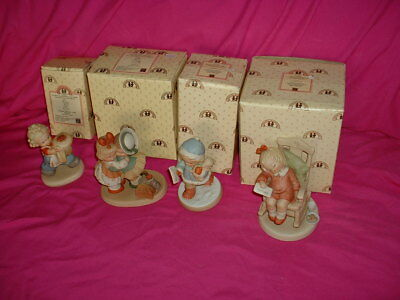 """memories Of Yesterday"" Porcelain Figurines, Lucie Attwell Ltd. Lot Of Four (4)"