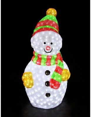 XEPA 35 in. Decorative Snowman Sculpture LED Light