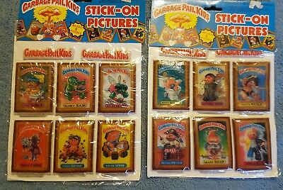 1985 1986 Garbage Pail Kids GPK Stick-On Pictures Unopened Packs VERY GOOD SHAPE