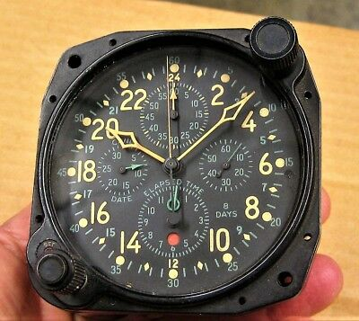 For Parts HAMILTON H-37500 WWII F-4U Corsair Airplane CHRONOGRAPH Clock NAS