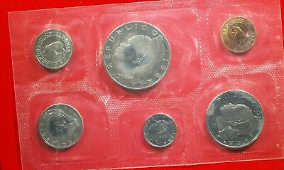 1971 Liberia Proof Set - hazy toning - original packaging - FREE SHIP