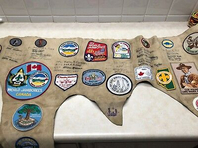Leather Hide W/1983 World Jamboree Patches