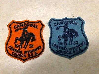 1951 & 1952 Central Wyoming Council Camporal Felt Patches