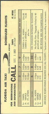 Florida Air Taxi system timetable c 12/63