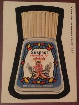 Wacky Packages 16th series sticker 1976 Topps Suspect Deodorant