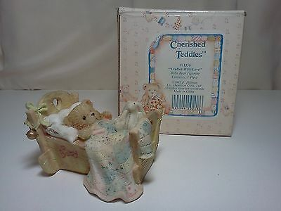"Cherished Teddies 911356 ""Cradled With Love"" Baby Bear Figurine"