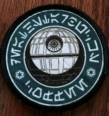 Star Wars Death Star Coffee Morale Patch Tactical Military Army Badge Hook Flag