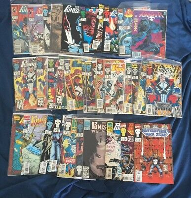 Punisher Comic Lot Thirty Four Issues