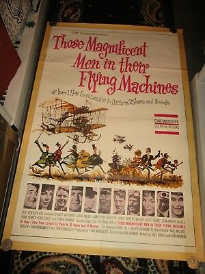 Vintage Movie Poster Those Magnificent Men in There Flying Machines (27x41)