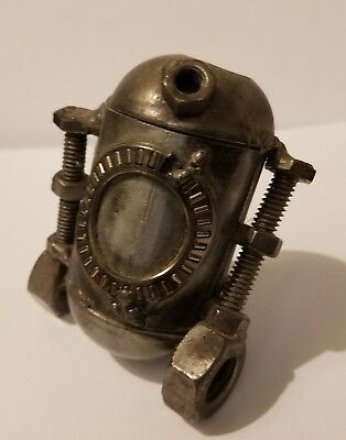 Hand Made recycled parts Metal R2D2 sculpture