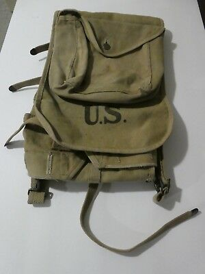 WW1 Haversack US military issued/used; Canvas Products Co. 1917