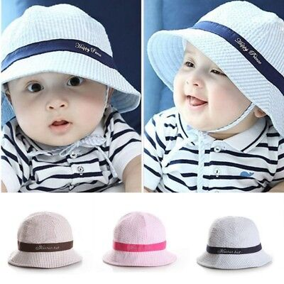 Infant Newborn Baby Girls Boys Summer Bucket Beach Outdoor Sun Hat Toddler Cap
