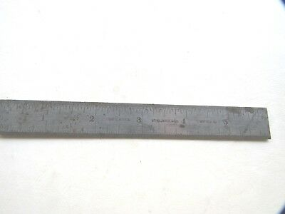 "Vintage Starrett No. 307 Tempered Steel 6"" Rule Tempered No.7 The L. S. S. CO."