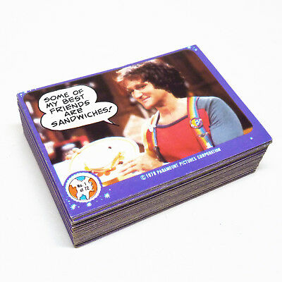 Mork and Mindy Scanlens 1980 Set of 72 Cards and Original Wrapper