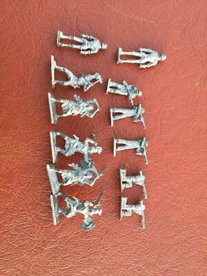 Vintage Lot of 12 Pewter Figurines Dungeons & Dragons!!
