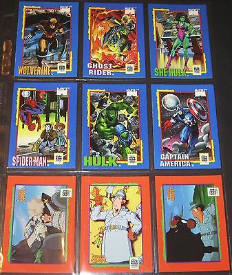 MARVEL SUPER HEROES UNIVERSAL MONSTERS SUPER MARIO © 1991 Complete 36 Card Set