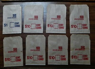 Historical State Savings Bank Of Victoria Paper Cash Bags