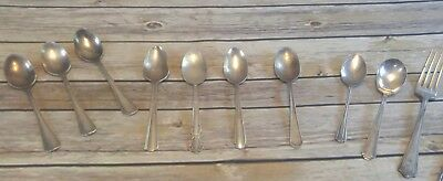 silverplate flatware mixed lot spoons Rogers Fairfield Victor L R International