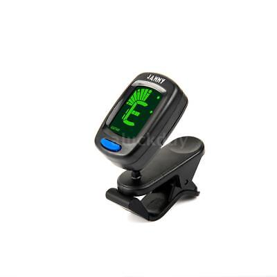 Compact Size Clip-On Tuner LCD Display for Guitar Chromatic Bass Ukulele H2B9