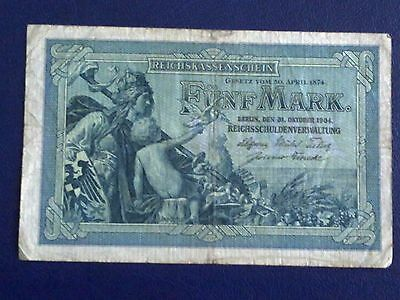 Germany - 5 Mark 1904-- Very Fine