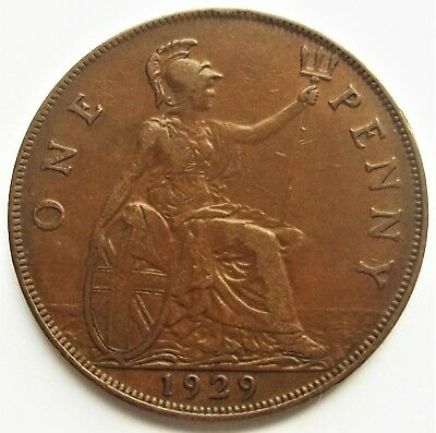 Great Britain 1929 1 Penny #km-838 World Coin