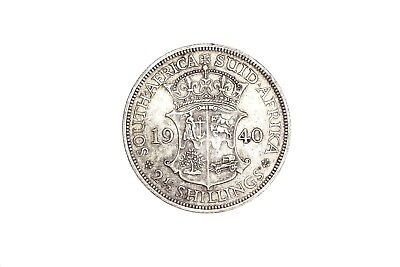 1940 South Africa 2 1/2 Shillings Silver Coin RARE!! KM#30 DEEP STRIKE! I16