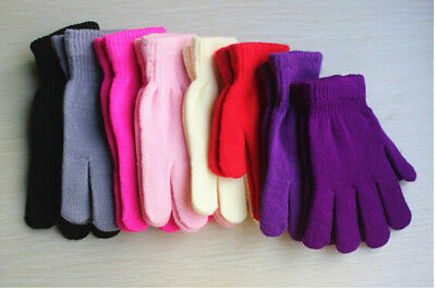 Children Magic Gloves Girls Boys Kid  Knitted Winter Warm Gift Fashion MJCAU