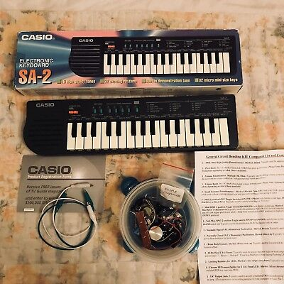 1980s CASIO SA-2 Electronic Mini Keyboard 32 Keys Circuit Bend Kit Included