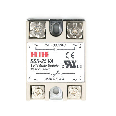 SSR-25VA AC 24-380V 25A Solid State Relay for PID Temperature Controller