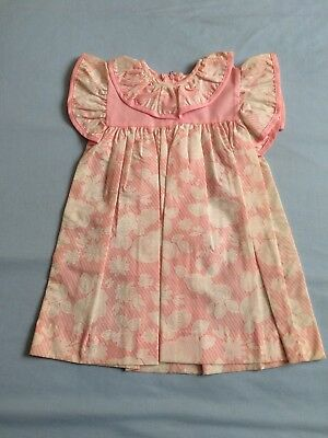 Vintage Anstee Girls Summer Dress Size 2 Pink Wedding Flower Girl Roses