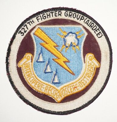 327th Fighter Group (AIRDEF) Fighter Interceptor Patch US Air Force C0942