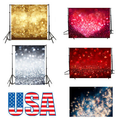 Dreamy Halo Background Wall 5x7ft Vinyl Sequins Photo Backdrop Studio Props USA