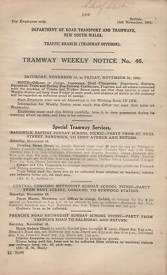 Syd 1941 Tram Nov 16 Wk Victoria Pk Race - Boxing - Motor Cycling Sport 50Pp $20