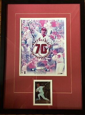 Limited Edition Framed Mark McGwire 1998 Home Run Champion