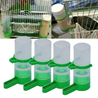Pet Bird Water Drinker Bottle Feeder Clip 4pcs for Lovebird Budgie Aviary Parrot
