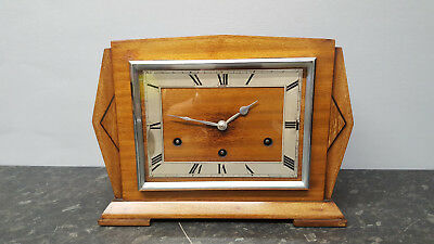 Vintage Art Deco Garrard 8 Day Westminster Chiming Mantle Clock