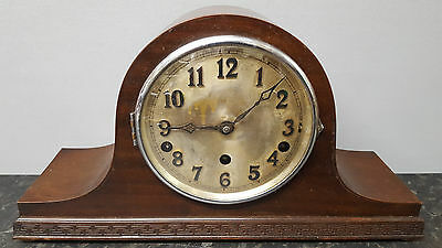 Vintage Napoleon Hat 8 Day Westminster Chiming Mantle Clock