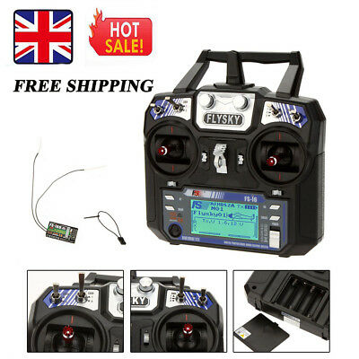 Flysky FS-i6 AFHDS 2A 2.4G 6CH Transmitter + FS-iA6 Receiver for RC Helicopter